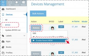 Enable Parent MDM